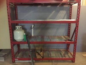 Snap On brand shelving for garage