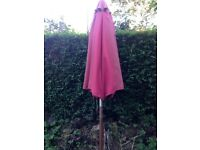 Parasol Red , wooden, good condition. For six seater garden table.