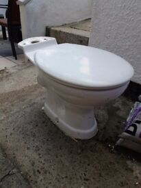 Toilet with seat and lid £20 ono