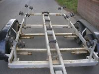 Twin axle braked 22ft boat trailer ideal for storage of for repairs
