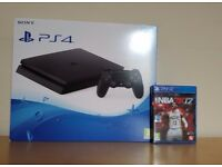 Sony Playstation 4 SLIM Console 500GB PS4, Controller with Nba2k17 **BRAND NEW SEALED**