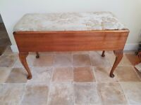 Vintage Piano Stool with storage area