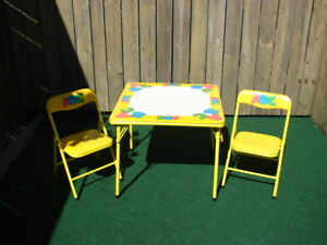 ABC table set with 2 x chairs