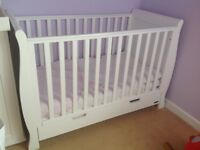 My baby's room sleigh cot