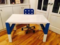 Children's Ikea Påhl height adjustable desk and Jules swivel chair