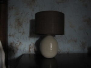 Cream & brown in color desk lamp