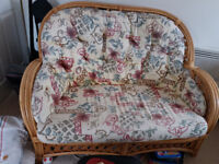 2 and 1 seater wicker furniture