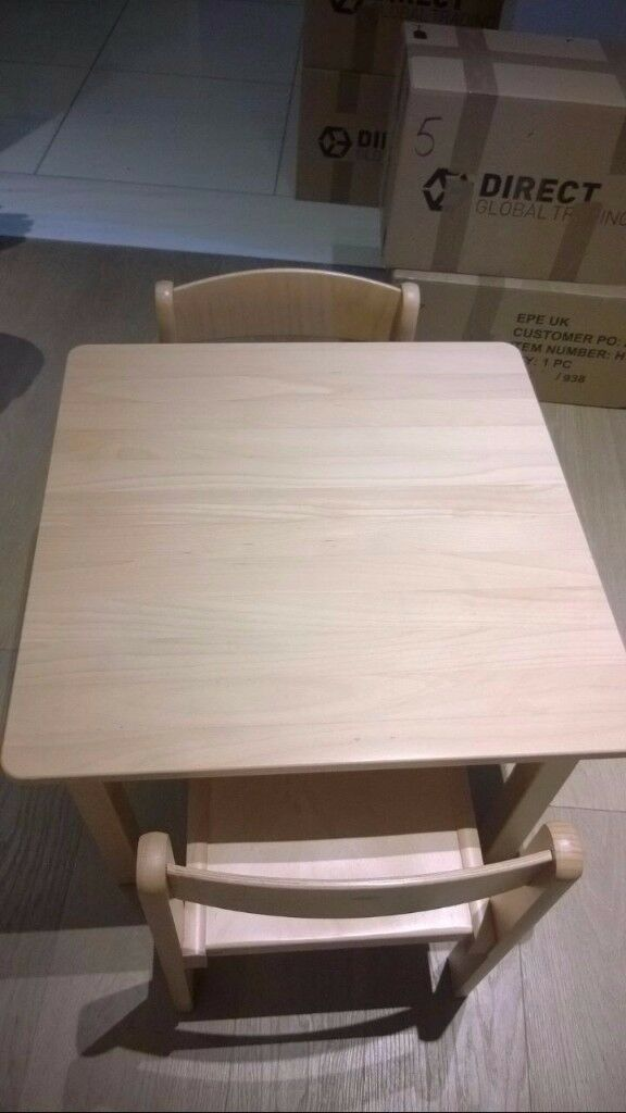 Children's Furniture Solid Beech Wood Set of 3