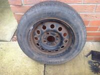 Fiesta spare wheel and tyre 165x 65r x 13