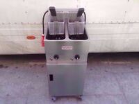 COMMERCIAL VALENTINE DOUBLE TANK FASTFOOD CATERING CHIPS FRYER DINER CAFE SHOP TAKEAWAY PUB KITCHEN