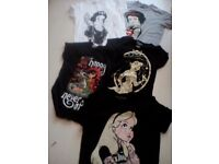 Disney punk princess t shirts