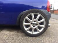 Vauxhall corsa exclusive alloys with 4 good tyres