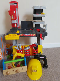 Kids workbench and tools sets