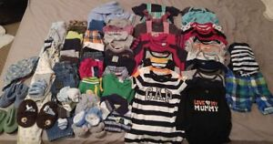 53 Pieces of Boys 6-12 months clothing lot Less than $2 an item