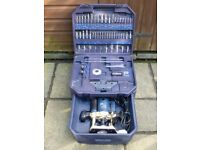 PERFORMANCE PRO 1250W ROUTER SUPER KIT INCLUDING 50 ROUTER BITS & INSTRUCTIONS. EXCELLENT CONDITION.