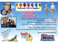 Grand opening family fun afternoon