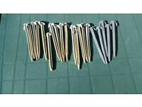 20 GREY PLASTIC AWNING/TENT PEGS