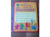 Usbourne First book of the Recorder