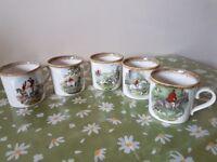 Set of 5 mugs - David Powell Potteries