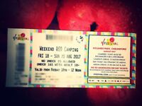 V Festival weekend 2 tickets Hylands Park Chelmsford Red Camping