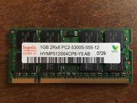 Hynix RAM 1x1Gb DDR2 PC2-5300 sodimm