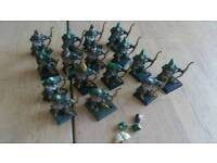 Wood elf army with archers war dancers and repeater crossbow with crew.