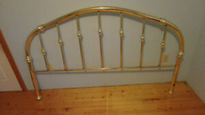 King siize brass headboard