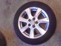 "**WHEEL 11** 2009-2013 MAZDA 3 BL TS2 16"" ALLOY WHEEL WITH TYRE 205/55/R16"