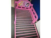 Toddler pink bed frame