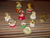 Collection Of 10 Teddy Inspired Snow Globes