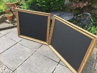 Matching pair of gold chalkboards large gold chalkboard