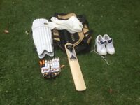 Cricket equipment youths.