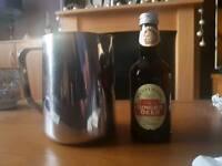 Metal milk frothing jug