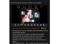 AutoWatch Ghost Immobiliser system BMW M3/4 M2 Ford Focus RS and more