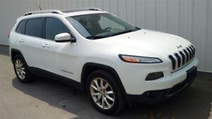 2014 Jeep Cherokee LIMITED NAV ROOF 4WD - One Owner