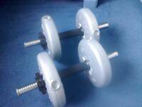 Set of weights. York Dumbbell Set 2x5kg, 4x2.3kg, 2x2.5kg, 4x1.1kg, 4x1.25kg excellent condition t