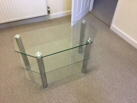 Glass TV stand suitable for up to 32inch TV