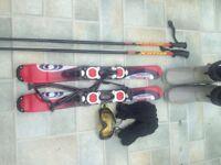 Ski set basically new £80