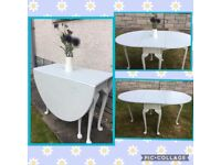 Upcycled by Vintage Angell- Drop leaf dining table