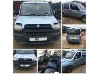 Fiat Doblo Family Van JTD 1.9 2005 Light Blue Bonnet all parts available