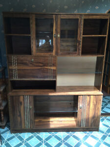 kitchen hutch for sale with glass shelves
