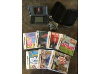 Black Nintendo DS with case and games bundle