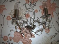 two chanderliers and two matching wall lights