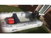 3.4m inflatable rib 15hp 4 stroke