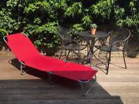 Brand New Foldable Sunbed - Homebase - Raspberry Colour