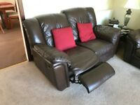 Leather Suite, Brown, Recliner