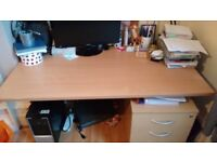 Lovely large desk 140cm x 80cm. Collection only. £40 ONO