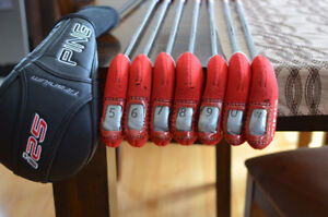 PING i25 Irons Stiff 5-PW + i 25 mens right handed driver 9.5