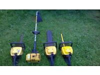 JOBLOT OF MACCULLOCH PETROL HEDGE CUTTER , TRIMMER AND PETROL STRIMMER