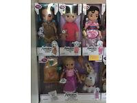 4 Disney animators dolls. The Rapunzel doll sings and the lantern lights up